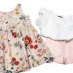 vestido rosa floreado beba Little akiabara verano 2019