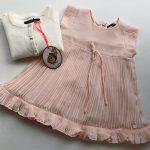 vestido rosa plisado beba Little akiabara verano 2019