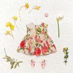 vestido floreado de niña para fiestas little akiabara verano 2019