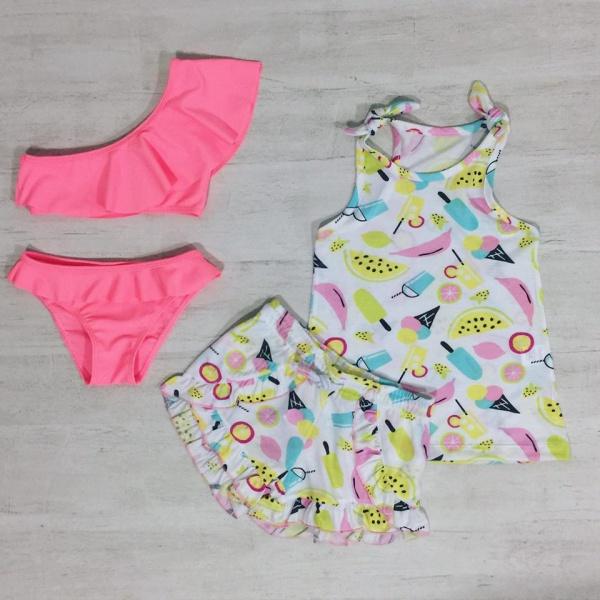 bikini un solo hombro beba Crayon verano 2019