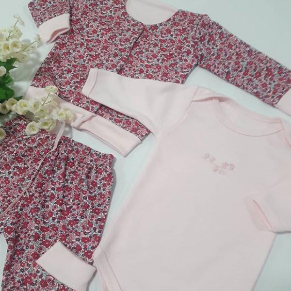 conjunto floreado algodon liviano para beba Dicen mis sueños verano 2019
