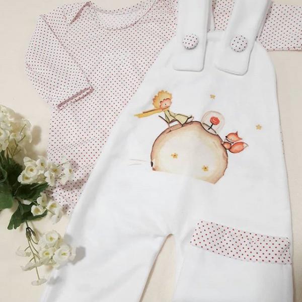 jardinero algodon con estampa para bebes Dicen mis sueños verano 2019