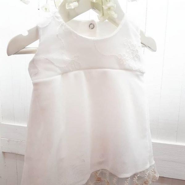 vestido blanco beba bautizmo año nuevo Dicen mis sueños verano 2019
