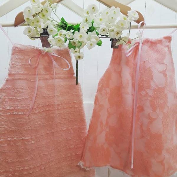 vestidos de encaje rosado Dicen mis sueños verano 2019