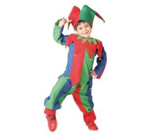Disfraz de bufon para niño