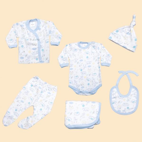 ajuar completo para bebe en algodon suave Gamise otoño invierno 2019