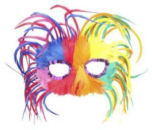 antifaz pluma carnaval