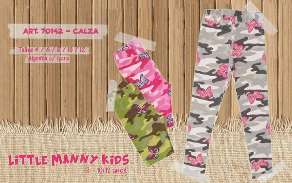 calza niña estampa camuflada Little manny otoño invierno 2019