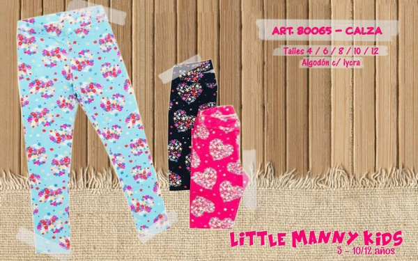 calza niñas estamapadas Little manny otoño invierno 2019