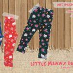 calzas con frisa para bebas Little manny otoño invierno 2019