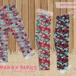 calzas estampadas para beba frisadas con lycra Little manny otoño invierno 2019