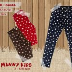 calzas gamuzadas para niñas Little manny otoño invierno 2019