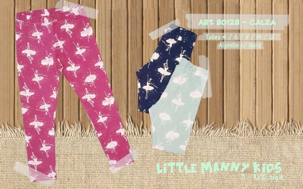 calzas niñas de algodon con lycra manny otoño invierno 2019