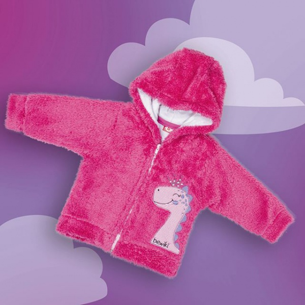 campera plush beba forrada con abrigo bewiki invierno 2019