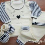 conjunto algodon para bebe Lecollage otoño invierno 2019