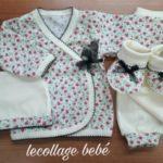 conjunto bata y pantalon algodon prima bebe Lecollage otoño invierno 2019