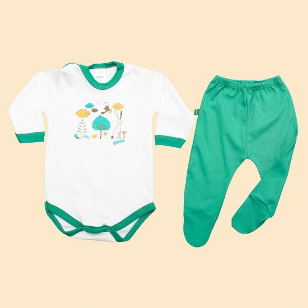 conjunto body y ranita bebes Gamise otoño invierno 2019