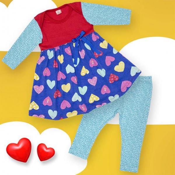 conjunto calza y vestido mangas largas beba Bewiki otoño invierno 2019 1