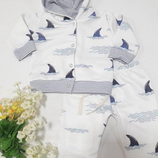 conjunto campera y ranita de algodon bebe marinero Dicen mis sueños otoño invierno 2019