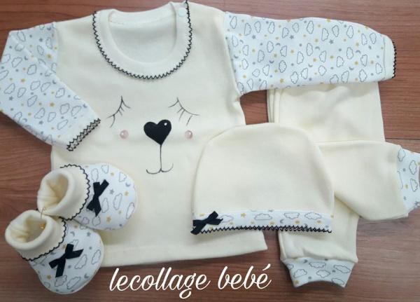 diseños exclusivos de ajuares para bebes Lecollage otoño invierno 2019