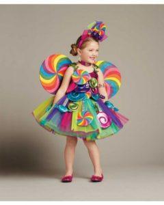 disfraces coloridos caseros niñas carnaval