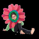 disfraz flor facil niñaT