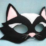 mascara de gato para niños facil