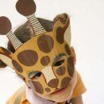 mascara de jirafa facil para niños