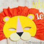 mascara de leon facil