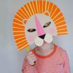 mascara facil de leon para niños