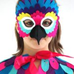 mascara pajaro facil para niña
