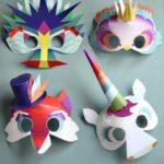 mascaras de carnaval niños faciles