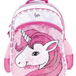 mochila colegial Footy 2019 unicornio lentejuelas y led