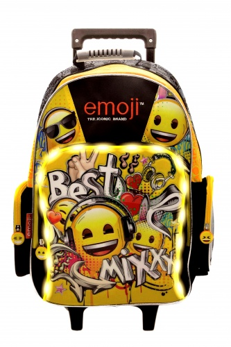 mochila emoji led carrito colegial 2019