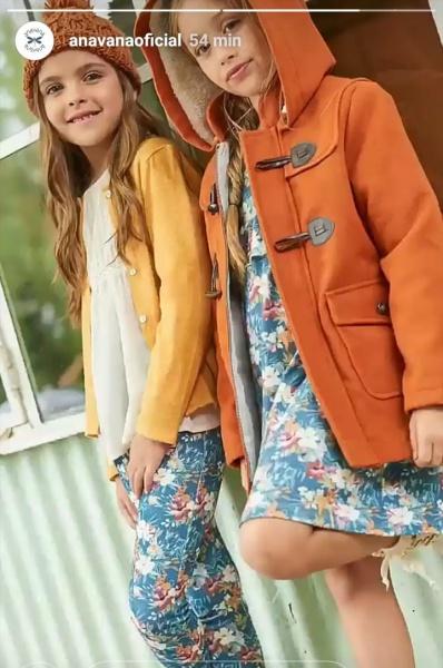 pantalon estampado saco y cardigan niñas Anavana otoño invierno 2019