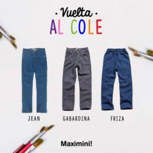 pantalones para el colegio maximini 2019