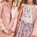 pollera plisada cardigan y saco paño rosa niña Anavana otoño invierno 2019