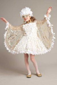 vestido comparsa blanco niña