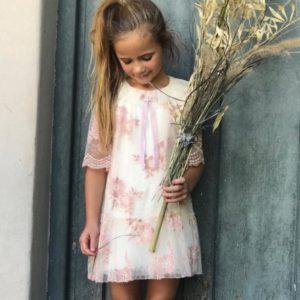 vestido de fiesta para niña de tul bordado otoño invierno 2019 Gro web 1