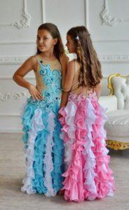 vestido largo carnaval niña