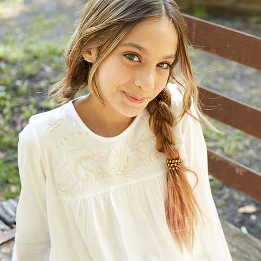 blusa blanca para niña campera algodon frisa niña Ce pe otoño invierno 2019