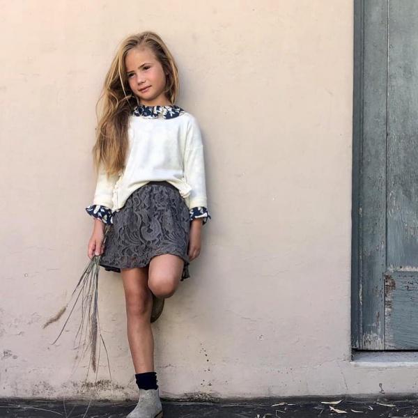 blusa para fiestas niña Gro web otoño invierno 2019