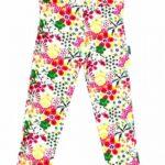 calza blanca con flores niña Flow Kids otoño invierno 2019