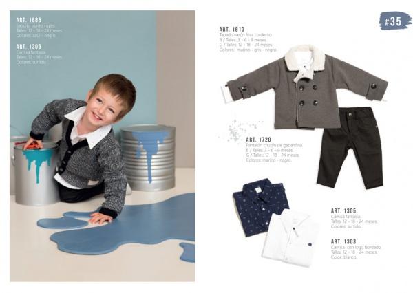 camisas y abrigos de bebe Pilim otoño invierno 2019
