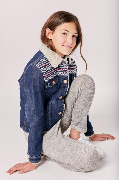 campera jeans con corderito niña Rapsodia girls otoño invierno 2019