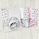 mantilla estampada reversible para bebes pachi otoño invierno 2019
