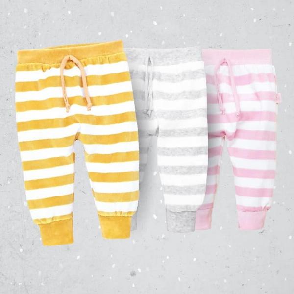 pantalon plush a rayas bebes pachi invierno 2019