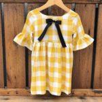vestido a cuadros amarillo waw otoño invierno 2019