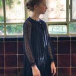 vestido negro mangas largas para fiesta niña Gro web otoño invierno 2019