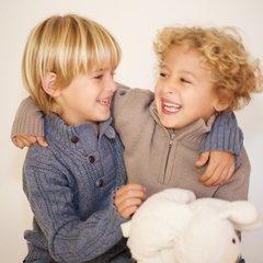 buzos de lana niños tejidos Pompas invierno 2019